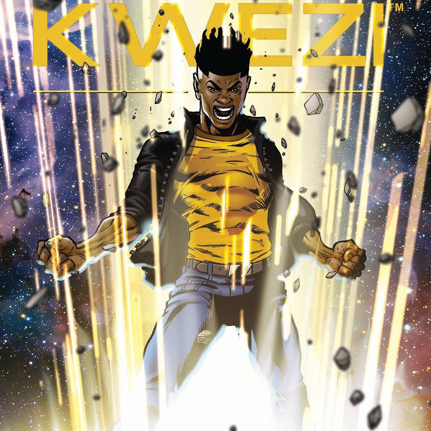 Kwezi comic featuring African warriors