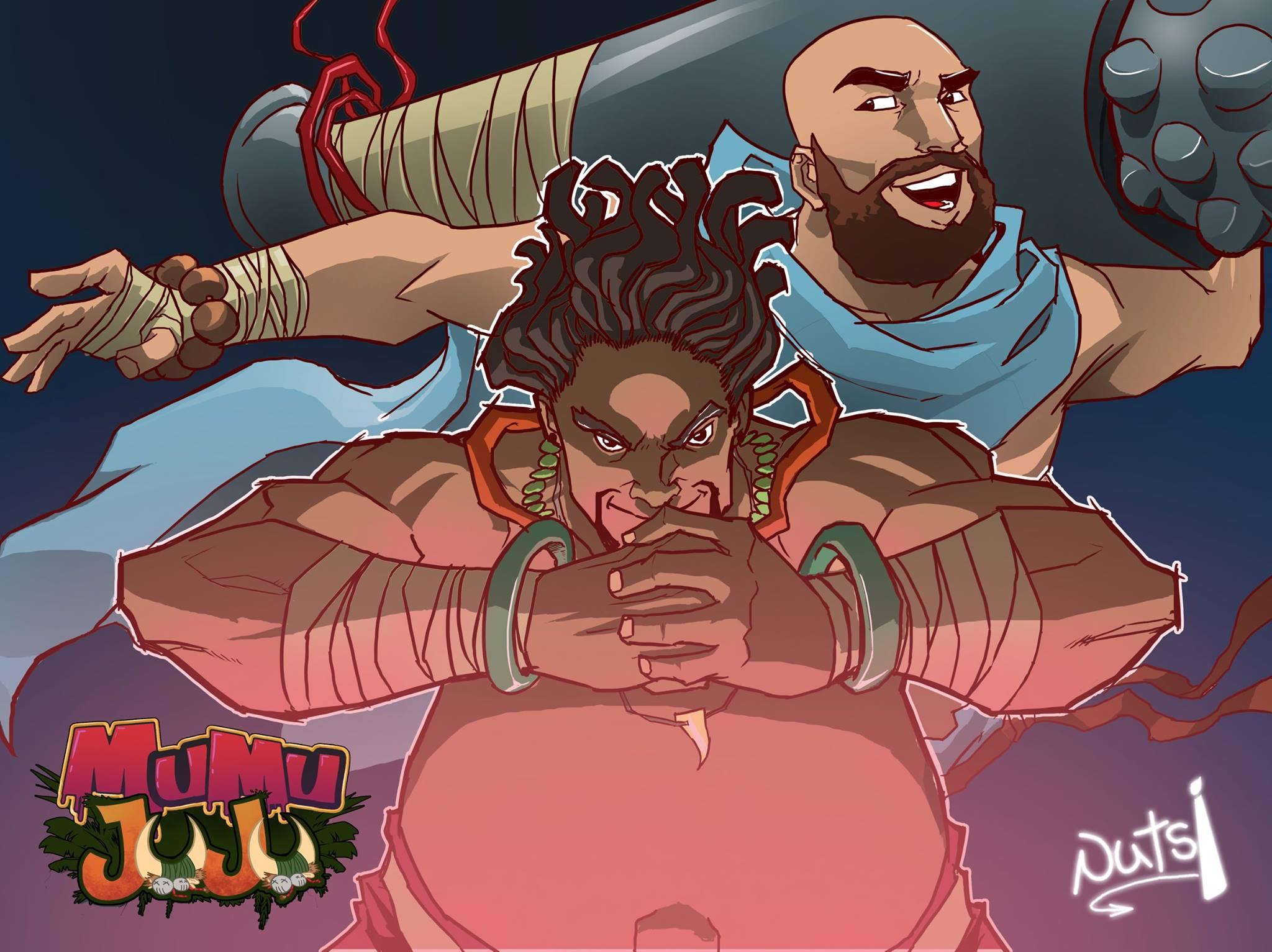 Mumu Juju main characters, Mortar and the Pestle