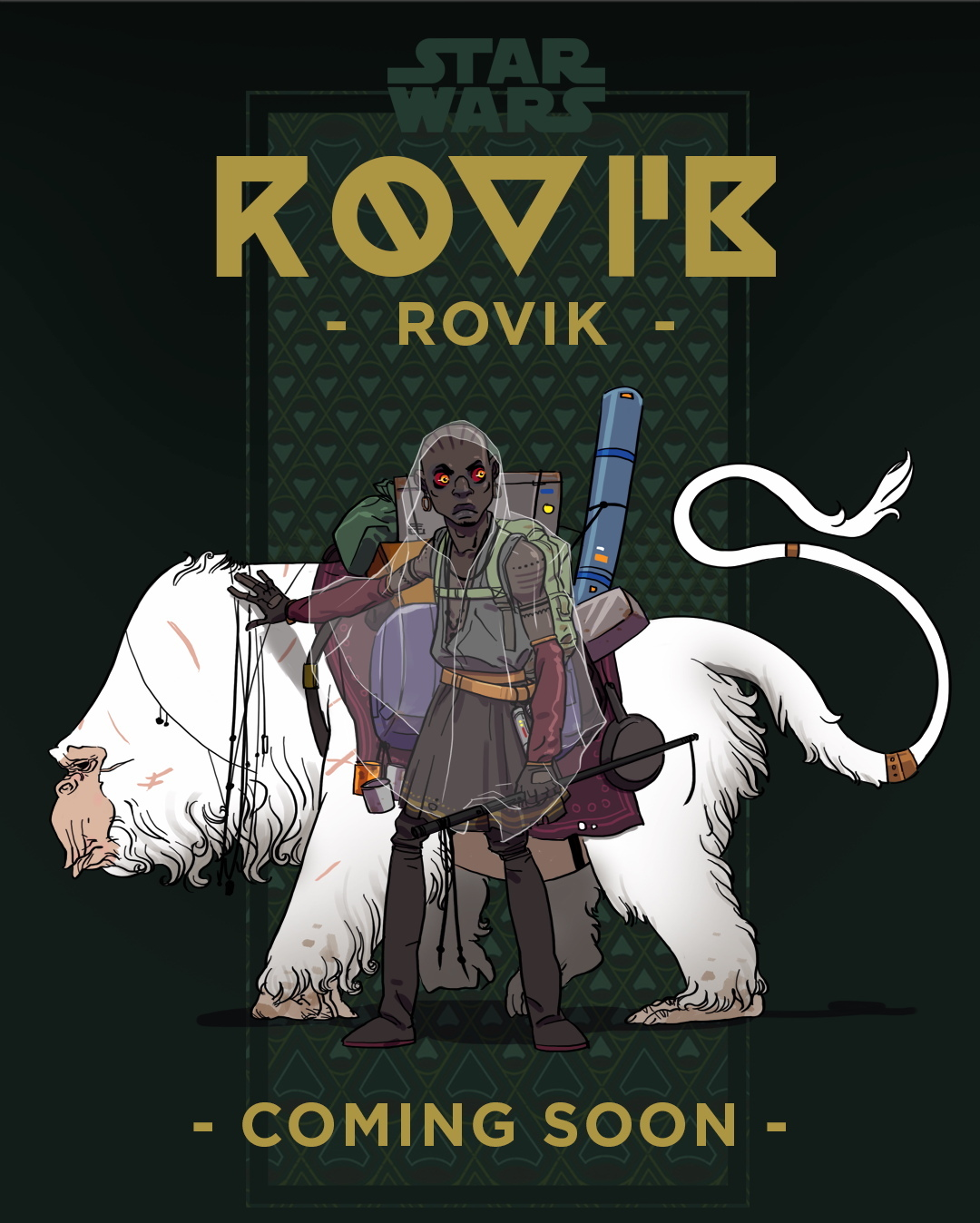 Rovik cover and promotional poster