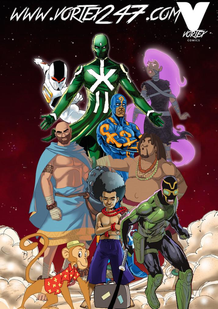 Vortex Comics character roster