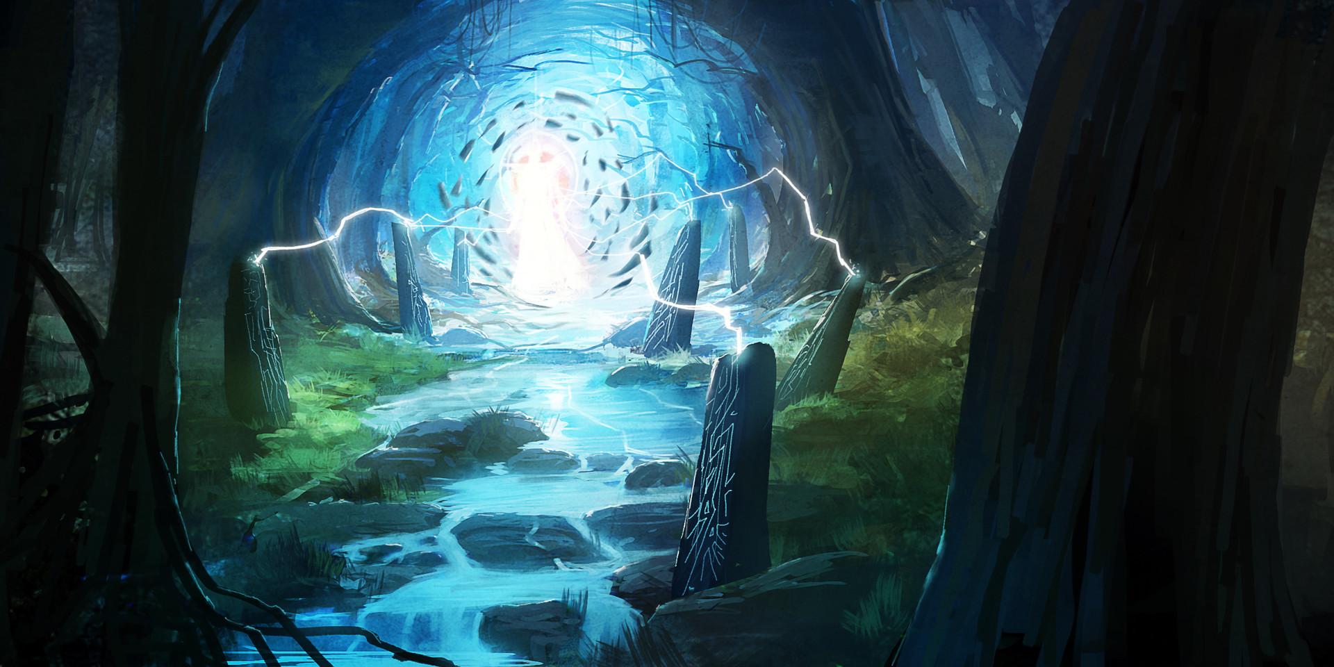 Strange Door in the Woods by Godwin Akpan