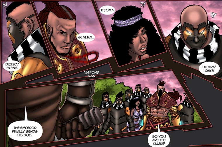 Ifeoma, Alaric and the Diokpas also known as strong men in the African comic, Scion: Immortal published by Comic Republic