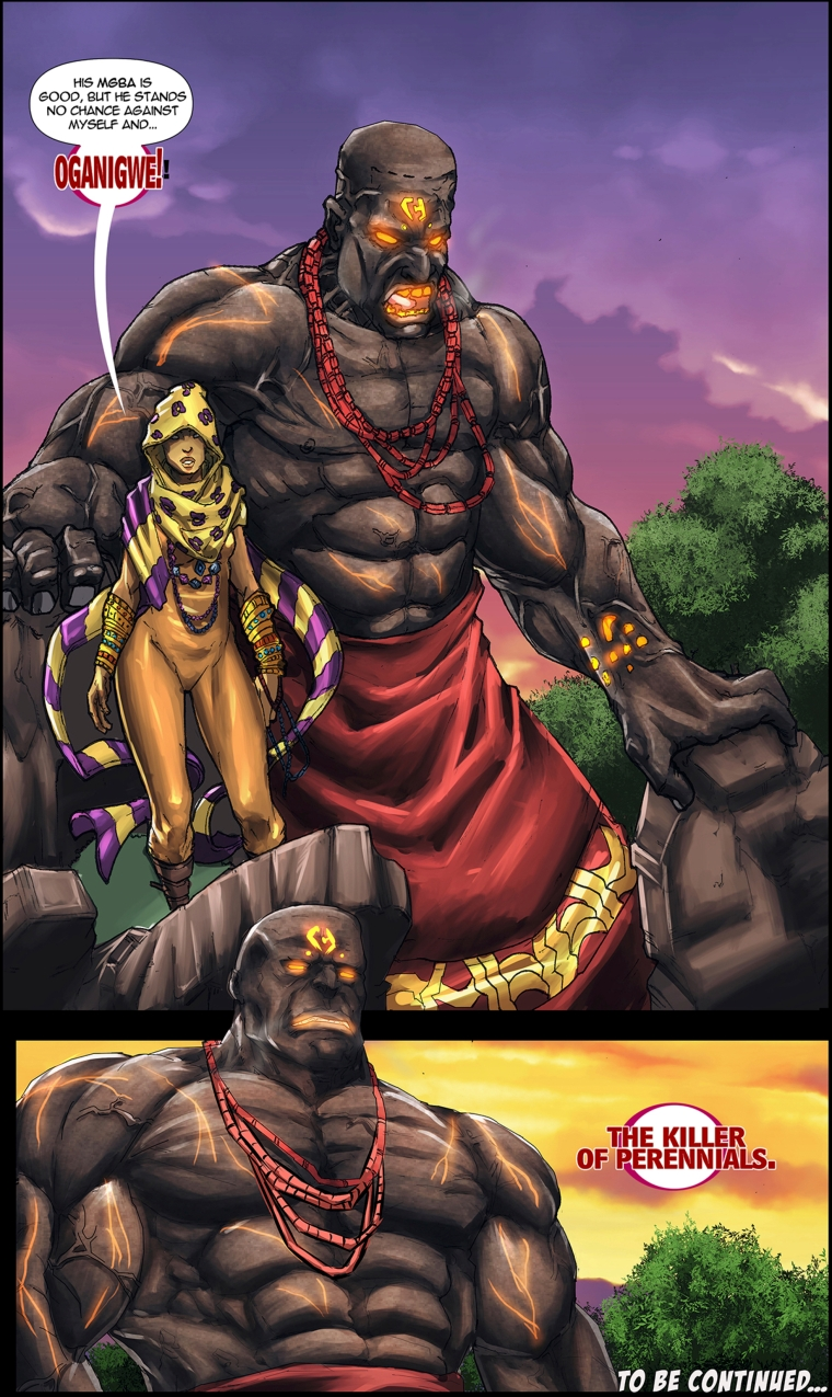 Oganigwe, Killer of Perennials in the African comic, Scion: Immortal