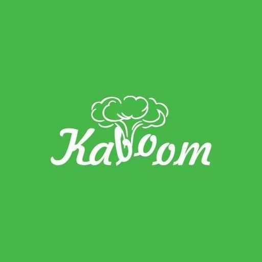 Kaboom Nigeria (kaboom written in white, on a green background)